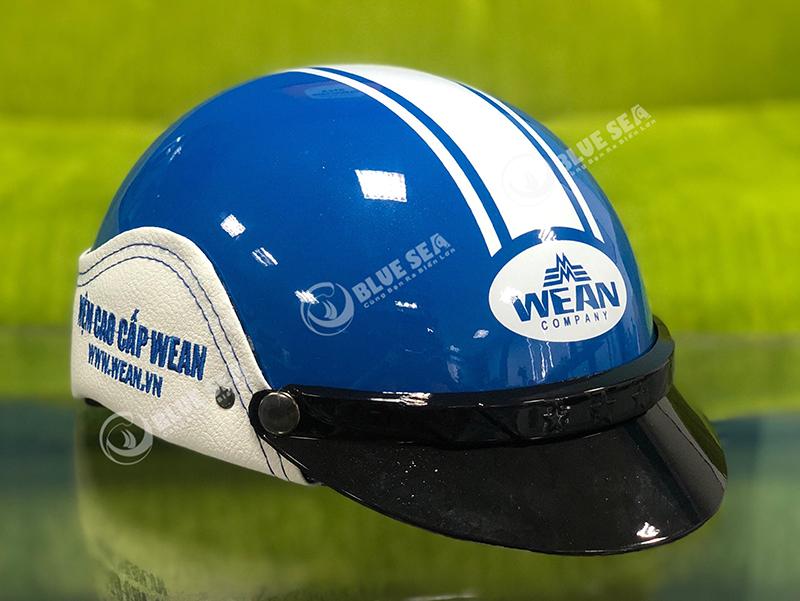 Mũ Bảo Hiểm In Logo Thương Hiệu WEAN