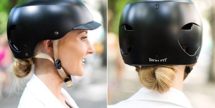 Tết hoặc búi tóc trước khi đội mũ bảo hiểm