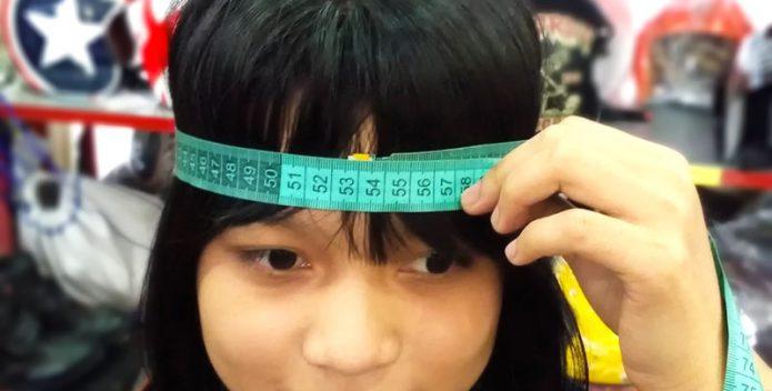 Cách đo size mũ bảo hiểm