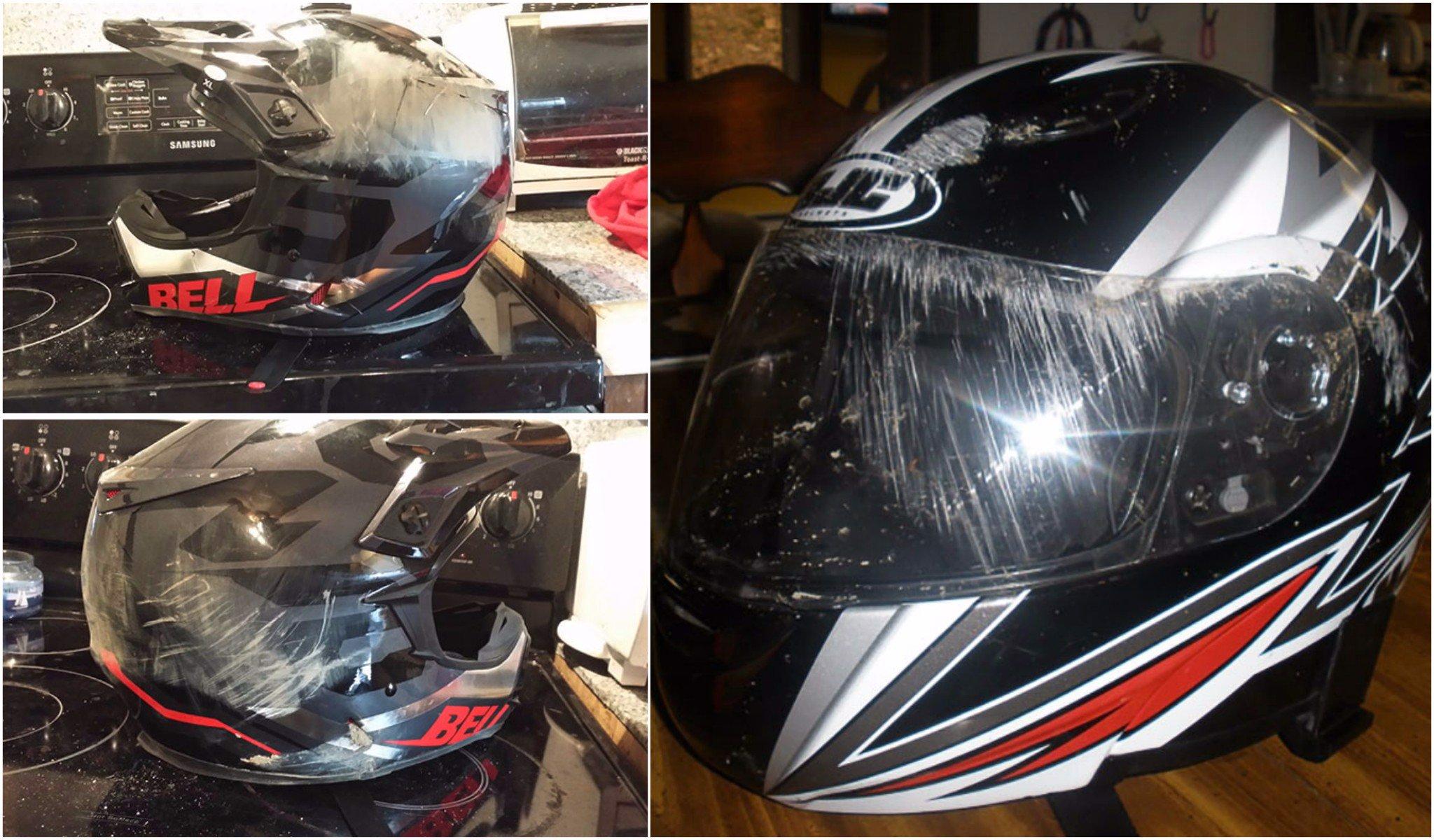 Mũ bảo hiểm sau những vụ tai nạn