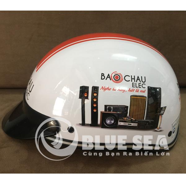 Sản phẩm mũ bảo hiểm đã được in ấn tại Blue Sea