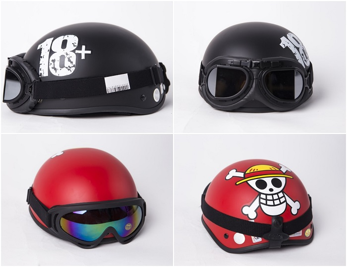 Mũ bảo hiểm có kính chống tia UV giúp bảo vệ khuôn mặt của tài xế khi tham gia giao thông vào những ngày nắng nóng