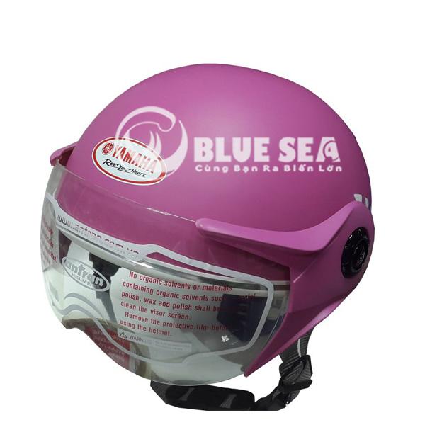 Mũ bảo hiểm có kính đạt chuẩn chất lượng tại Blue Sea