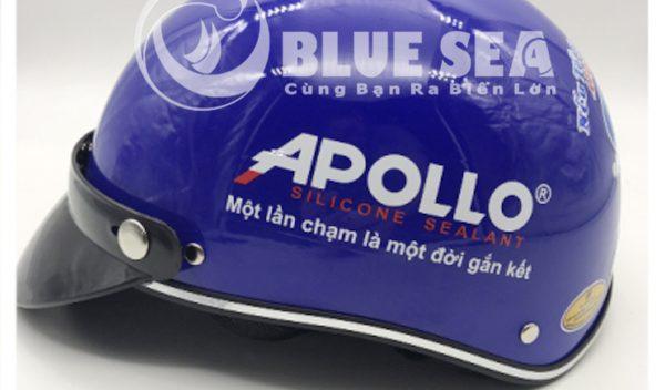 Thiết kế nón bảo hiểm in logo Trung tâm Apolo