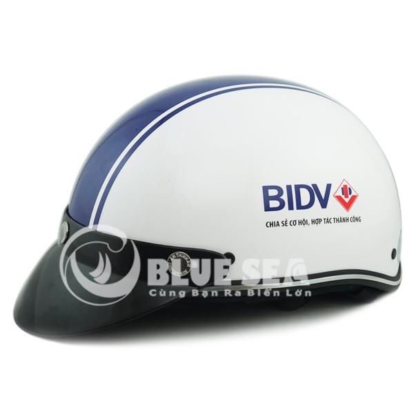 Nón bảo hiểm in logo ngân hàng BIDV