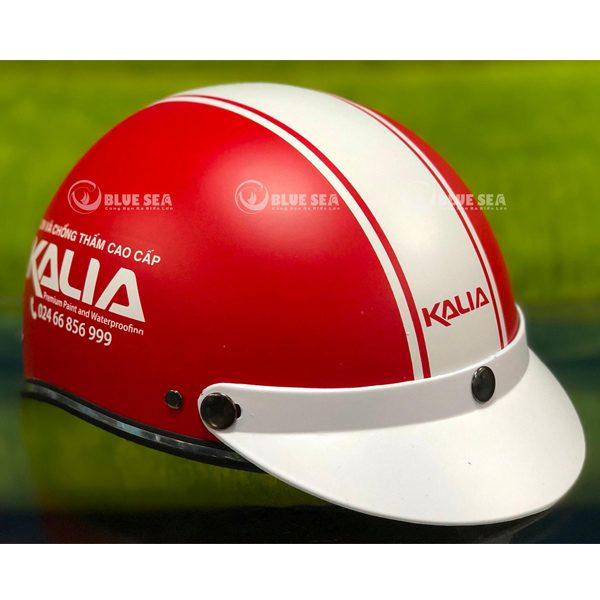 mũ bảo hiểm in logo KALIA